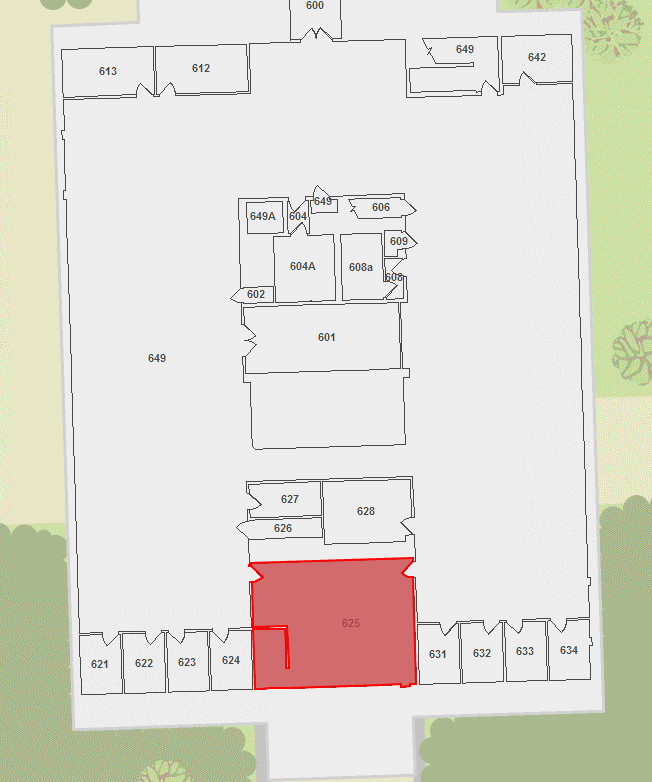 floor plan with room highlighted