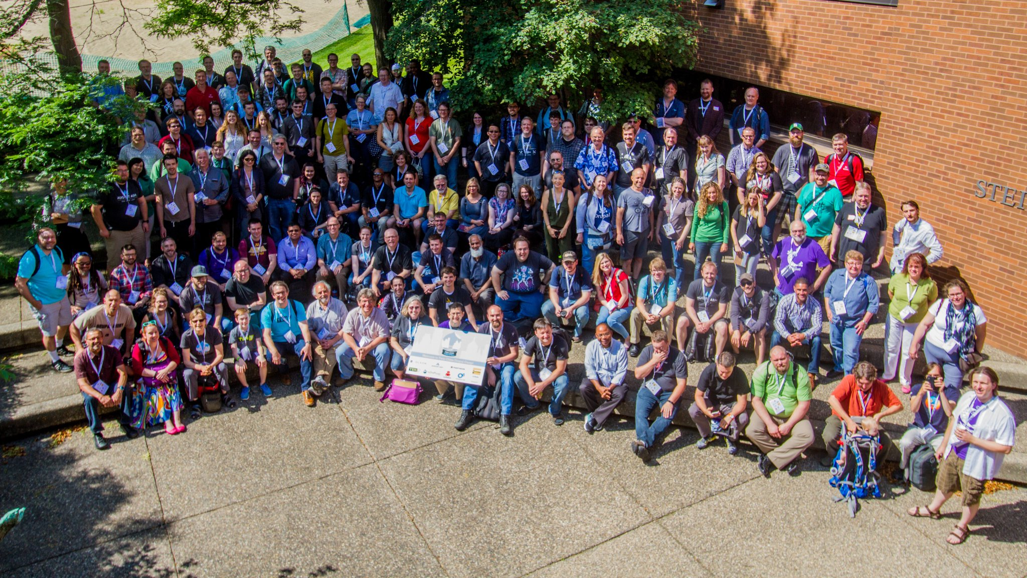 Group photo of attendees from 2016 Twin Cities Drupal Camp