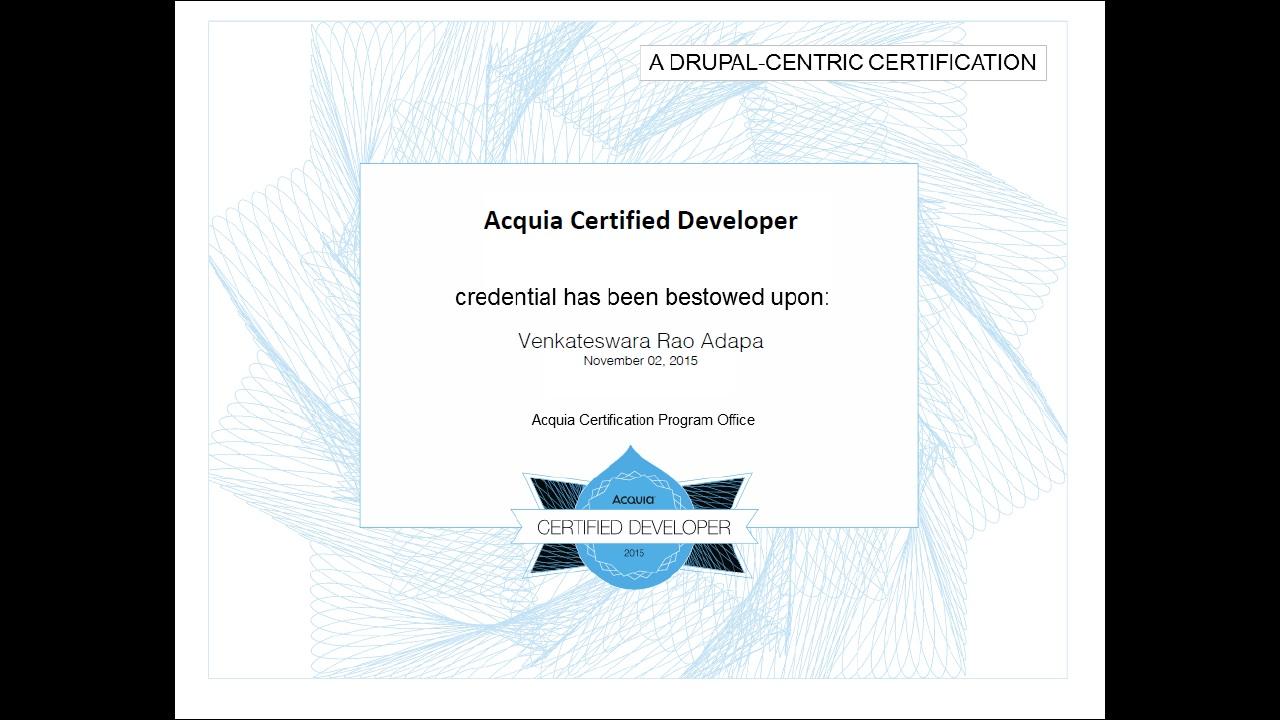 Acquia certified developer drupal groups certificate xflitez Gallery