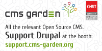 Support Drupal at the booth!