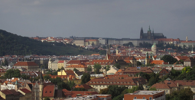 The Prague city skyline