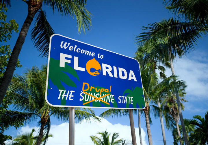 Welcome to Florida, the Drupal state