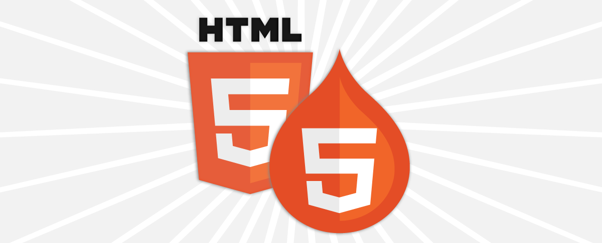 html5 logo and drupal html5 logo together
