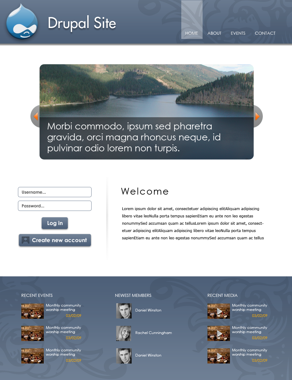 Proposal - Modern recolorable theme with configurable \