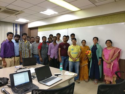 Group photo at DrupalGTD with Unimity Solutions in Chennai