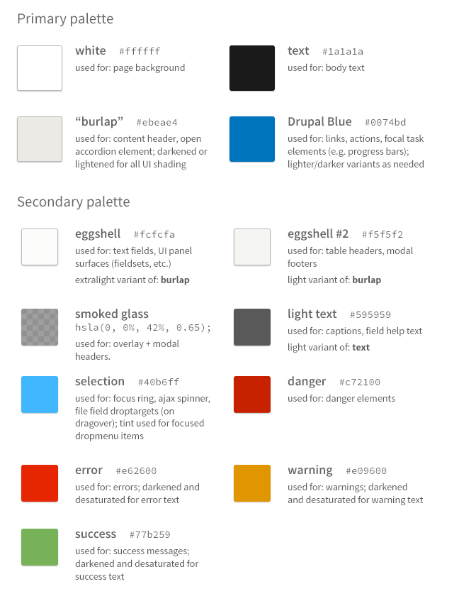 Proposal: A Style Guide for Seven | Drupal Groups